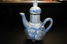 Vintage Chinese Teapot Blue and white collectable. Used for Display only.