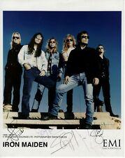 Iron Maiden Signed x 6 Promo Photo EMI 1999 - Genuine