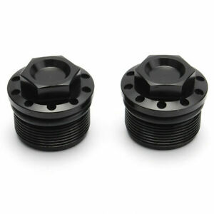 2x Black CNC Fork Tube Cap Bolt Fit For Harley Sportster 883/1200 48