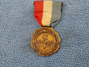 VINTAGE 1920 NEW PRAGUE MINNESOTA 2ND ANNUAL SOKAL MEET MEDAL BADGE PIN