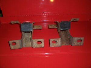 1971-1973 Mercury Cougar original rear bumper mounting brackets with damper pads