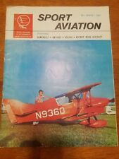 Sport Aviation Magazine August 1961 homebuilt antique racing rotary wing