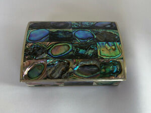 Dome Topped Mexico Dresser Box With Inlaid Sheller Exterior