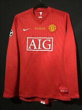 2008 Manchester United Nike UCL Final Shirt 7 Ronaldo Long Sleeve All Sizes