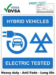 MOT SIGN | MOT SIGNS | VOSA | H/DUTY HYBRID VEHICLES ELECTRIC TESTED MAIN SIGN