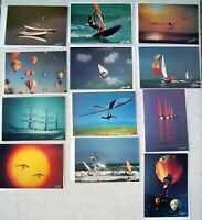 12 New Vintage Greeting Cards All Occasion Air / Water Sports Photos French 5x7""