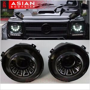 for Mercedes Benz G-class W463 Black LED HEADLIGHTS 2007 - 2017 G63 G55 G550