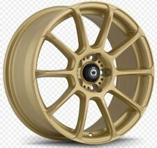 17x7.5 KONIG RUNLITE 5x108 +45 Gold Rims (Set of 4)