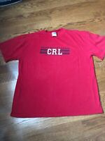 Vintage Chaps Ralph Lauren Red Shirt Size X-Large Big Logo Spell Out