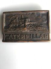 VTG Caterpillar Belt Buckle Very Old Rare Reg Pat Off CAT Machinery Farm