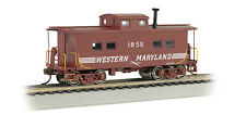 """WESTERN MARYLAND """"HO"""" NORTHEAST STEEL CABOOSE BY BACHMANN TRAINS SILVER SERIES!"""