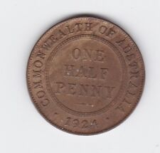 1924 Half Penny Coin Australia showing 6 pearls  H-953