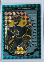 Malcolm Subban Boston Bruins 2015-16 o-pee-chee Platinum Blue Cubes RC 17/75