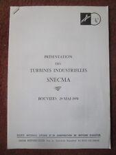 1970 SNECMA HISPANO SUIZA TURBINE INDUSTRIELLE BOUVIERS INDUSTRIAL GAS TURBINE
