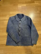 Veste Bleu De Travail Moleskine Véritable Ancienne