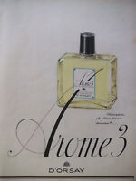 PUBLICITÉ PRESSE 1950 PARFUM AROME 3 DE D'ORSAY SENTEURS DE LA LAVANDE DE FRANCE