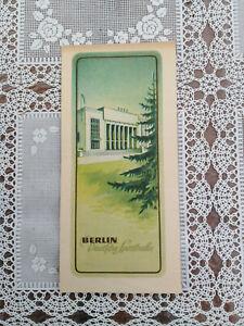 DDR  BERLIN Deutsche Sporthalle 1952  Sammelbild ?