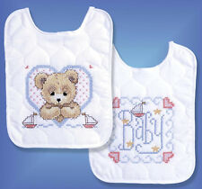 Cross Stitch Kit ~ Design Works / Tobin Bedtime Prayer Boy Bib Set (2) #T21704