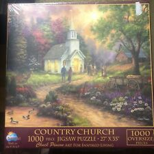 SunsOut by Chuck Pinson COUNTRY CHURCH 1000 Oversize Piece Puzzle