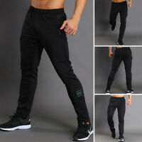 Men Casual Stretchy waist Pants Sweatpants Gym Athletic Fitness Workout Joggers