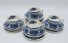 Enoch Wedgewood Royal Homes of Britain teacups with saucers and side plates