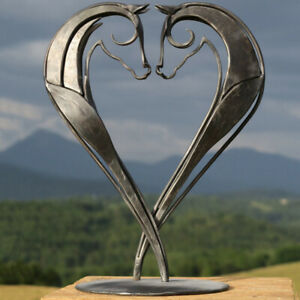 Metal Horse Statue Sculpture Art Home Desktop Ornaments Figure Crafts Gift