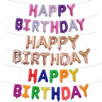 16inch Letter Balloons Set Happy Birthday Foil Balloon Kids Birthday Party Decor