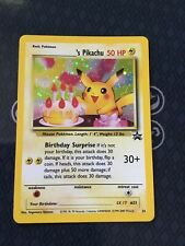 2001 Pokemon Promo Birthday Pikachu Holo RARE - Black Star 24 - NM/M