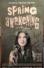 Full Cast + Creatives Signed SPRING AWAKENING Off Broadway Poster RARE!!