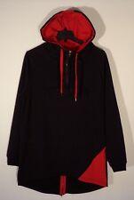 NWT MENS L BLEECKER AND MERCER RED BLACK HOODIE ANORAK SWAG SWEATSHIRT  #1233