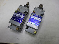 SQUARE D -  LIMIT SWITCHES - Qty of 2 - HEAVY DUTY METAL BODY - 9007-C62D