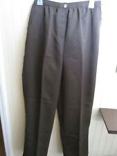 LADIES PANTS SIZE L HILLARD & HANSON BROWN NWT