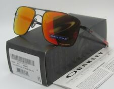 OAKLEY polished black/ruby PRIZM POLARIZED GAUGE 6 OO6038-04 sunglasses! NEW!