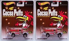 Lot of 2 Hot Wheels Pop Culture Cocoa Puffs Texas Drive 'Em Ford Real Riders