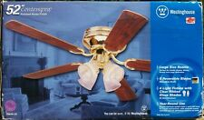Westinghouse Contempra 52 Inch Ceiling Fan Reversible-Polished Brass-4 lights
