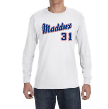 Atlanta Braves Greg Maddux Throwback Logo Long sleeve Shirt