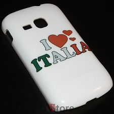 Cover Case for Samsung Galaxy Mini 2 S6500 I Love Italy Rigid