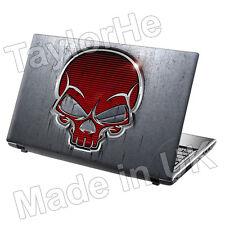 """15,6 """"Laptop piel cubierta de adhesivo de etiqueta de metal Calavera 119"""