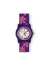 Timex Kids T89022 Time Teacher Analog Flowers Elastic Fabric Strap Watch Wristwa