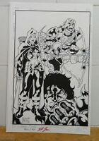 ORIGINAL COVER ART FOR THE WAVE: TWILIGHT OF THE GODS #0! AUTOGRAPHED/BLUEWATER