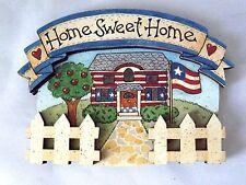 """Refrigerator Door Magnet 2.5"""" X 3"""" Patriotic Home Sweet Home"""
