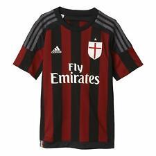 adidas Junior Boy's AC Milan 2015-16 Home Jersey Football Shirt Red & Black