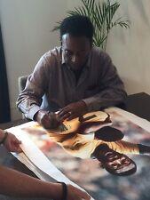 PELE firmato gigante tela superba oggetto per £ 175 valore mozzafiato & item