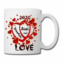 Tasse bedrucken mit Herz und Wunschname Valentinstag Hochzeit Geschenk 2020 Love