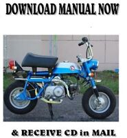 Honda Z50A Z50R factory shop service repair manuals on CD (1968-1988)