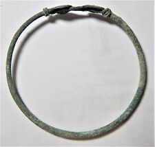Zurqieh - Ancient Holy Land , Roman Bronze Bracelet. 200 A.D