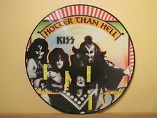 KISS - HOTTER THAN HELL, PICTURE DISC VINYL LP DUTCH ARMY ORIGINAL PRESS # 1270