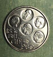 1980 BELGIUM 500 FRANCS SILVER COIN, FREE SHIPPING.