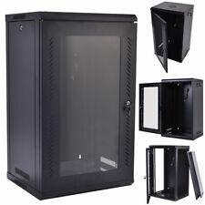 15u Wall Mount Network Server Data Cabinet Enclosure Rack Glass Door Lock W/ Fan