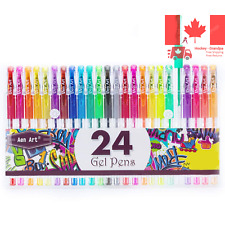 Glitter Gel Pens Colored Fine Tip Markers with 40 More Ink for Adult Coloring...